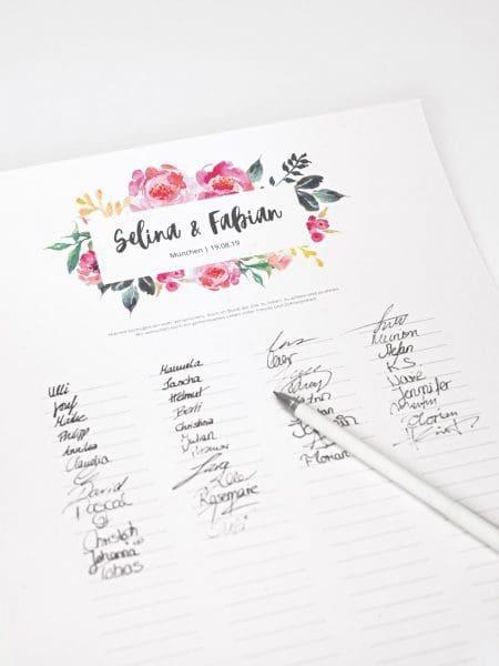Gästebuch zur Hochzeit
