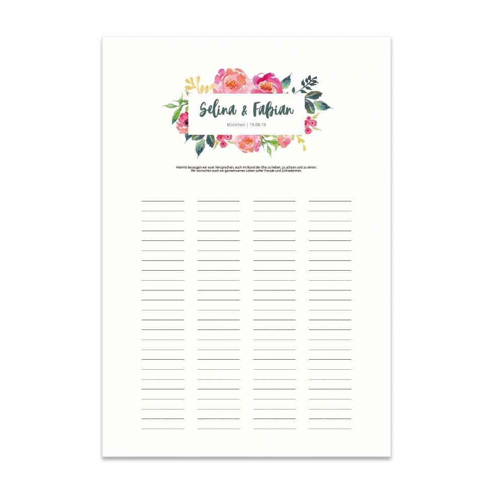Trau-Urkunde zur Hochzeit