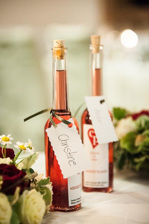 Hochzeitslikör Gastgeschenk