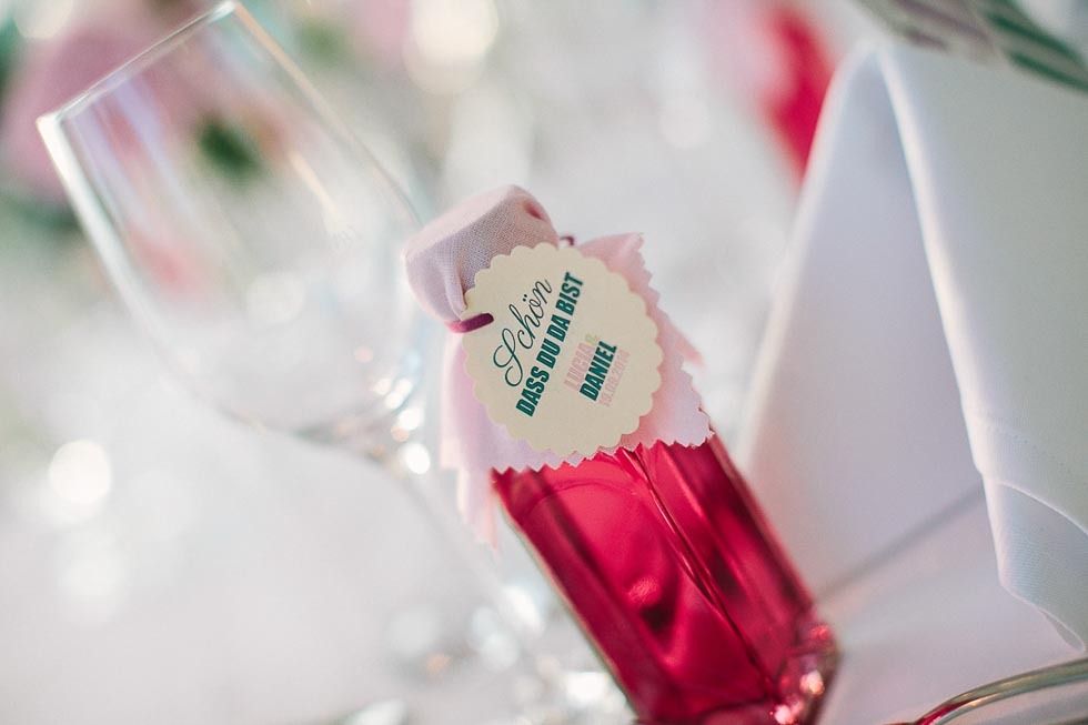 Gastgeschenk Hochzeitslikör DIY
