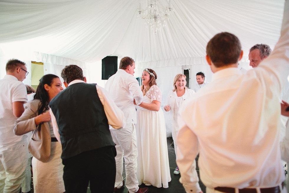 Himmel im Hochzeitszelt