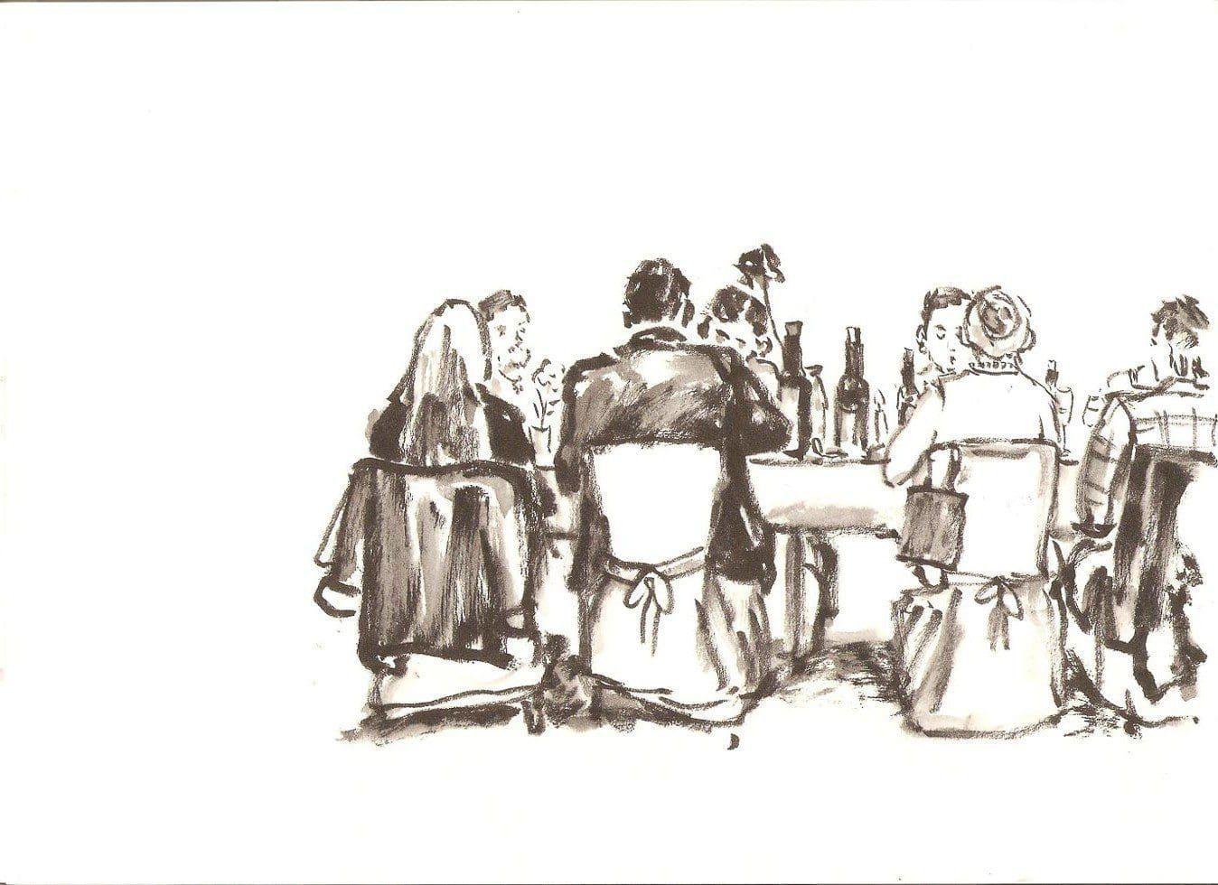 Zeichnung Hochzeit