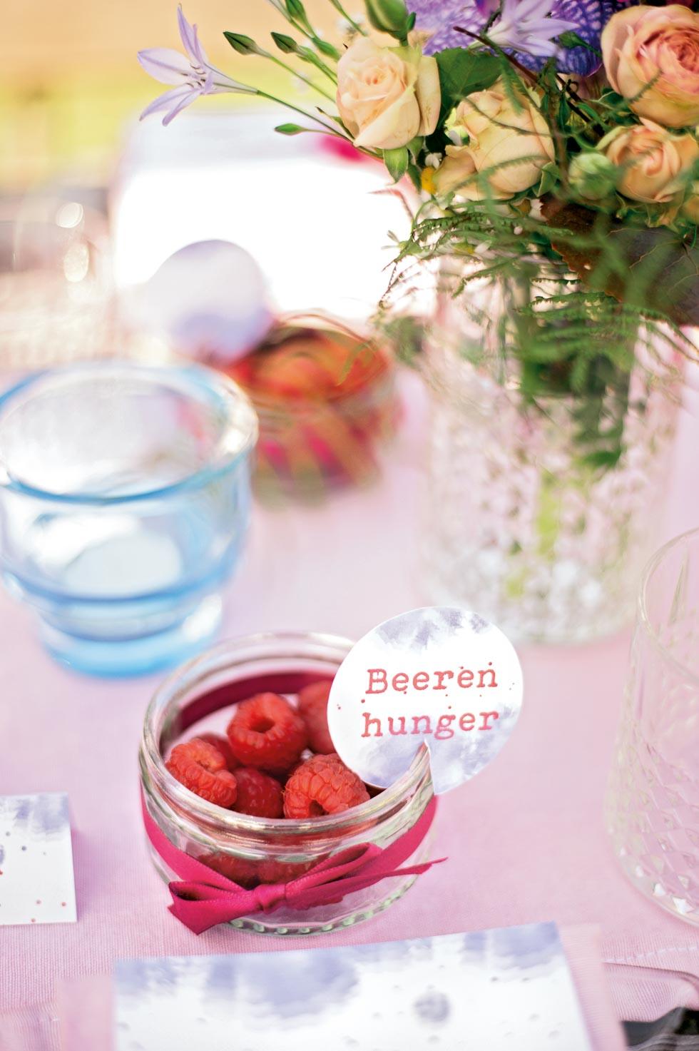 Gastgeschenk mit Früchten