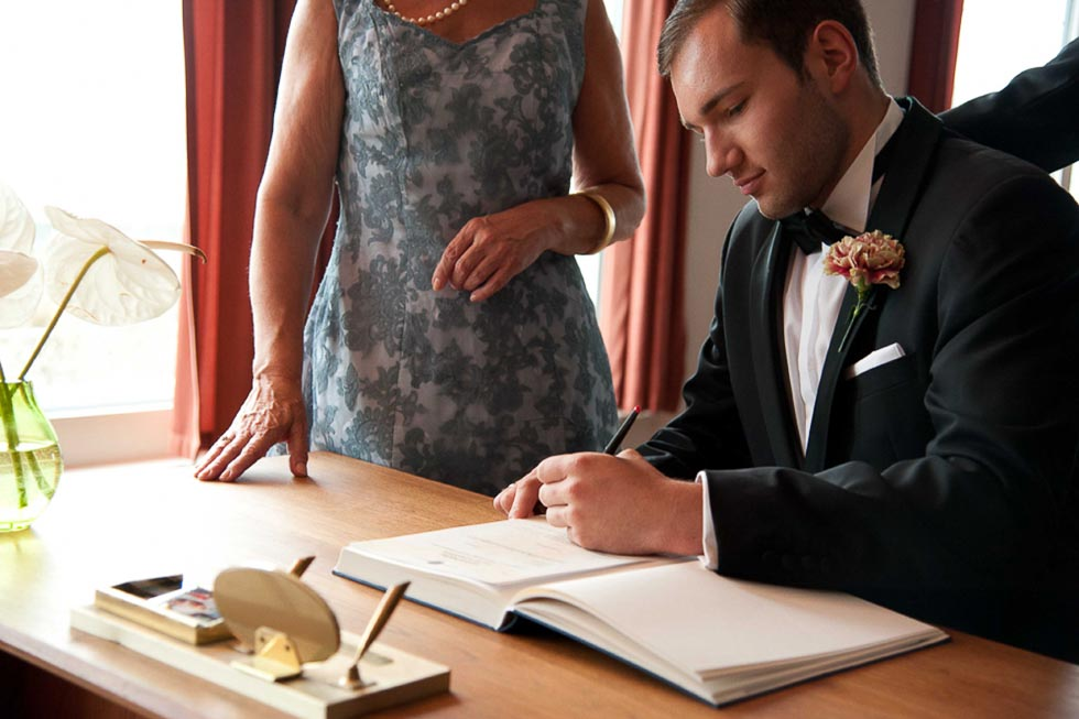 Hochzeitsshoot in der PanAm Lounge von Norbert Benike