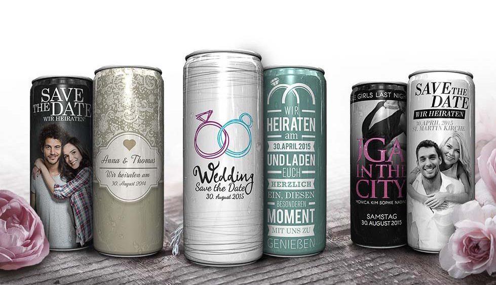 Gewinne individuelle Getränkedosen für den Sektempfang – weddingstyle Hochzeitsblog