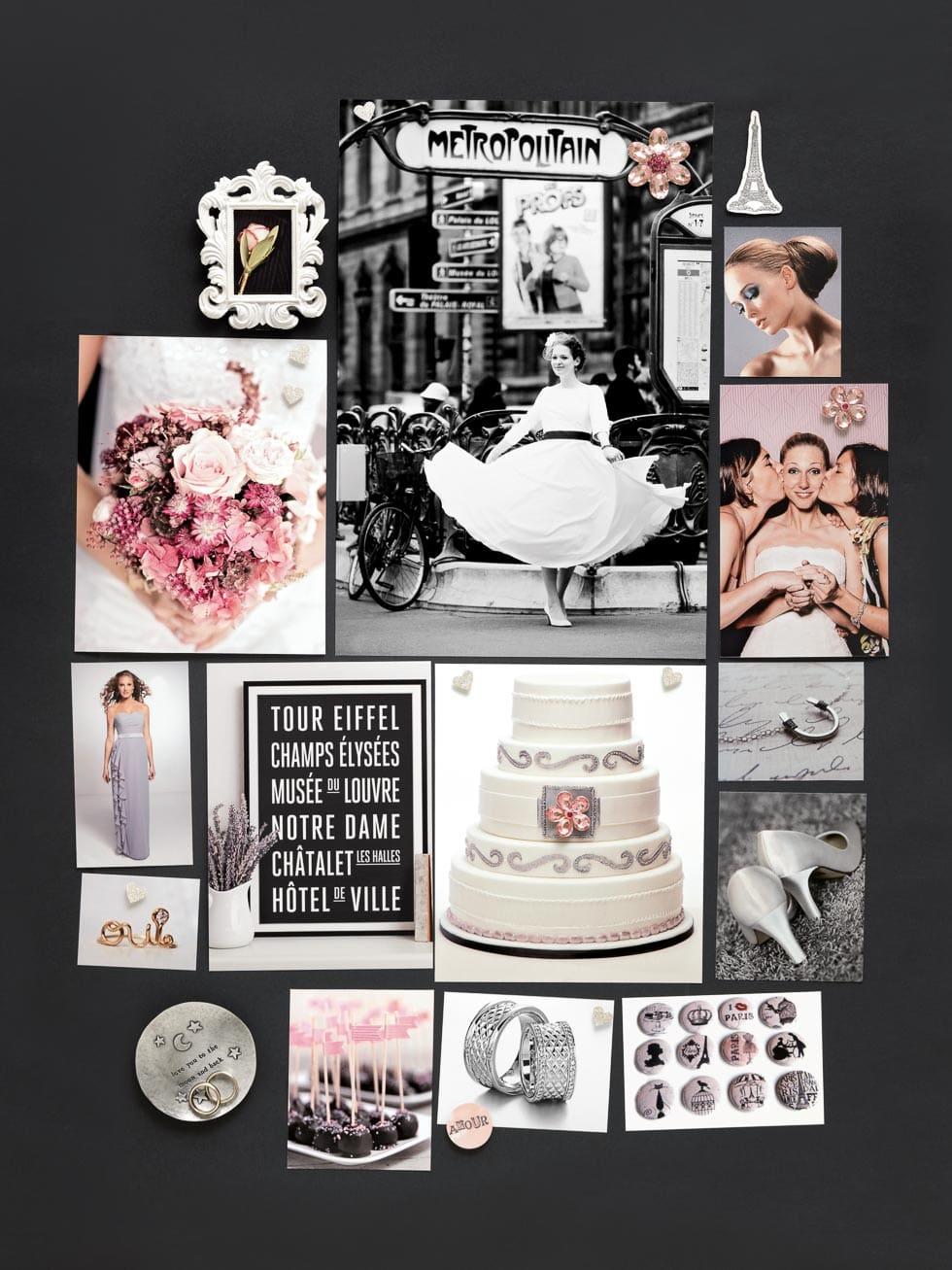 Stimmungsboard für die Hochzeit von www.weddingstyle.de