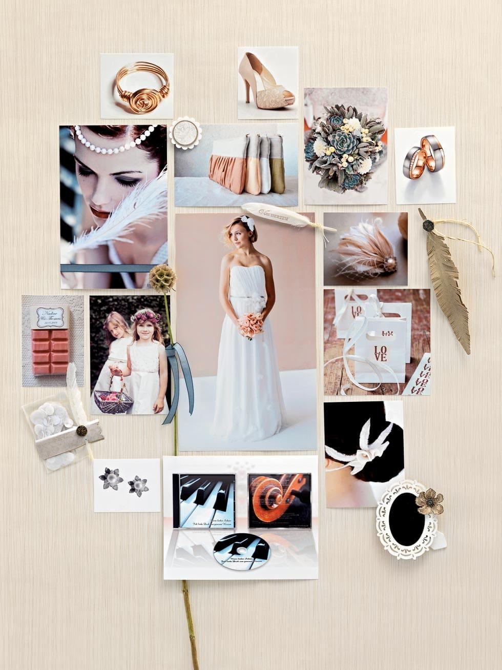Stimmungsboard natürliche Hochzeit