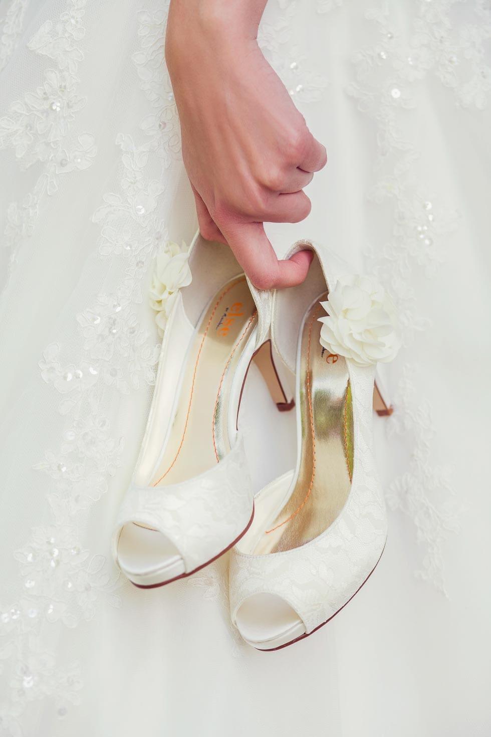 Absatzhöhe für Brautschuhe