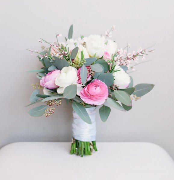 Brautstrauß Rosa Winter