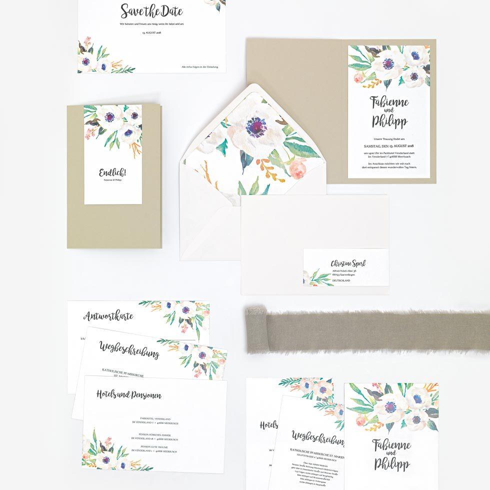 Einladungstext Hochzeit Anemone