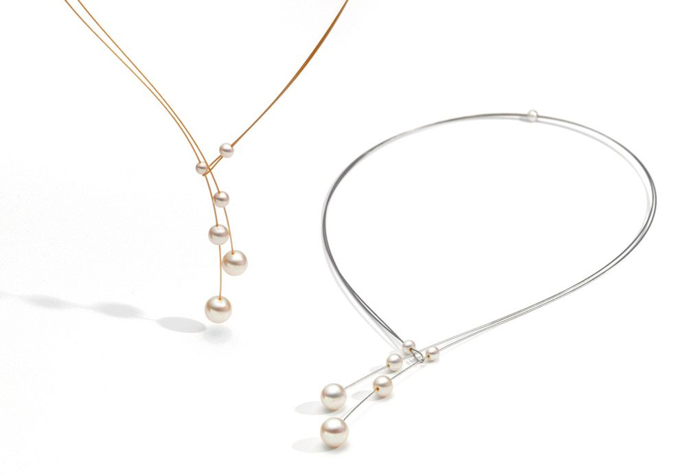 Perlencolliers von Eva Strepp