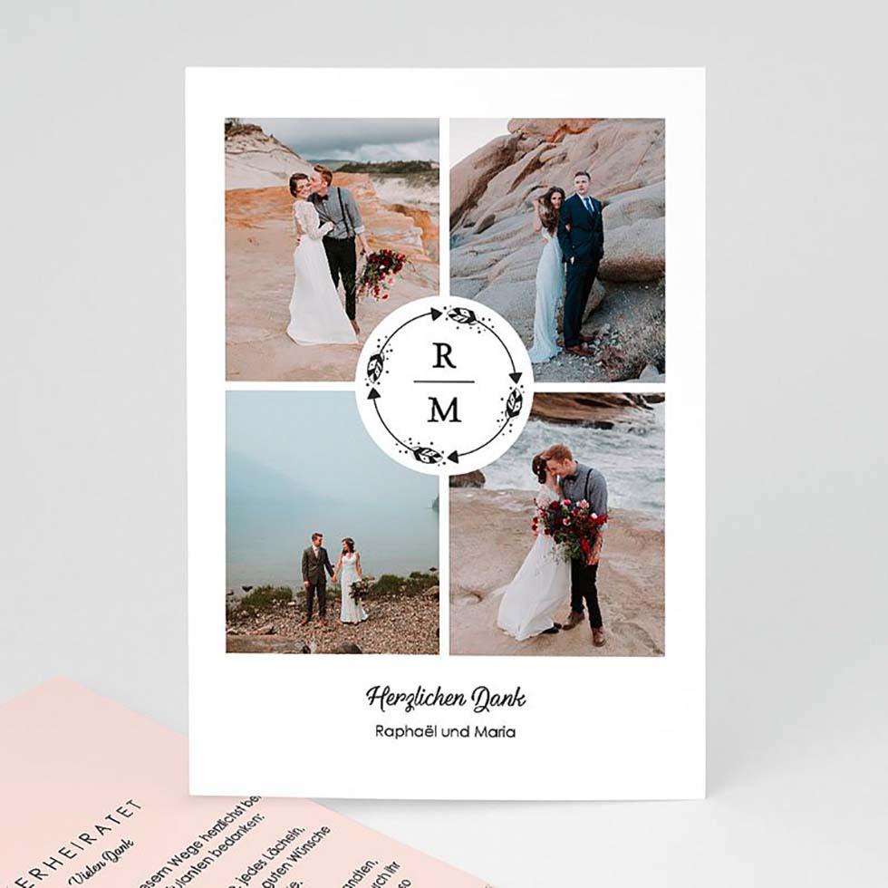Danksagung Postkarte Boho