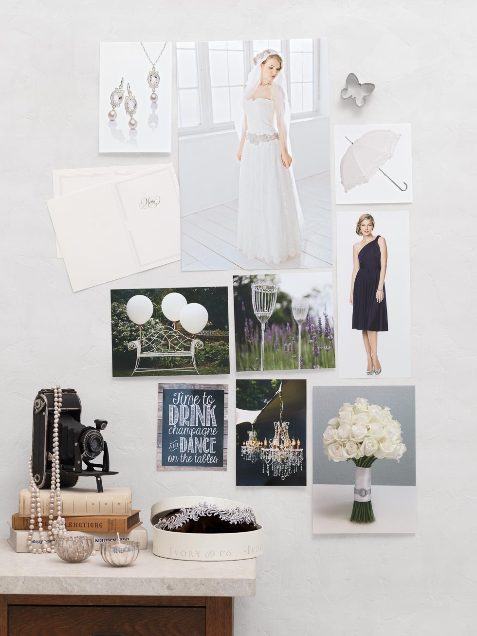 Stimmungsboard Hochzeitskonzept