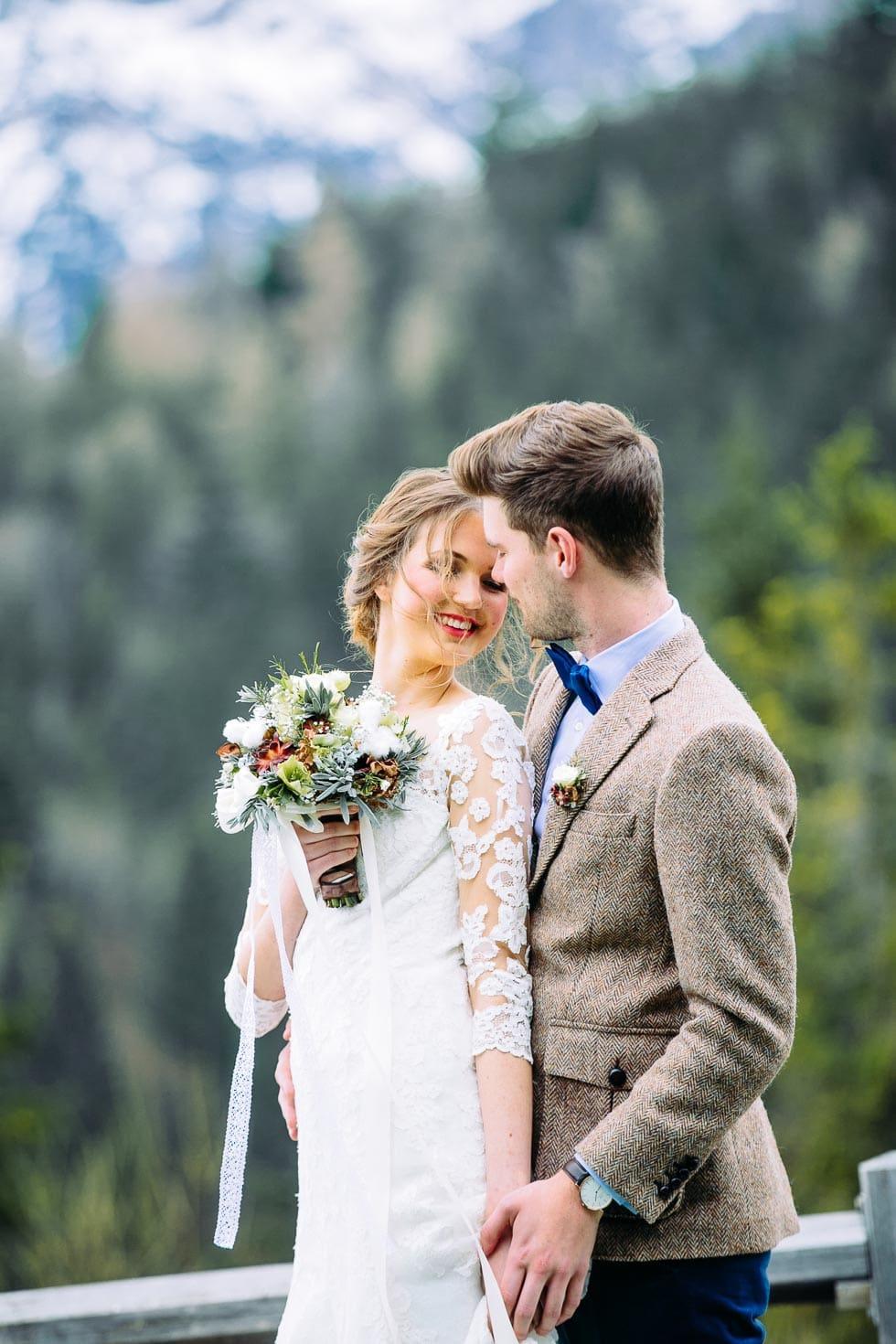 Hochzeitskonzept: Winterhochzeit in den Bergen – Hochzeit planen mit ...