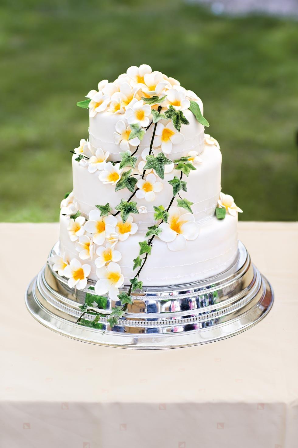 Hochzeitstorte Mit Blumendekoration