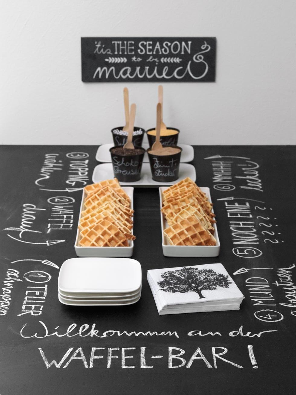 Sweet table: Waffelbar
