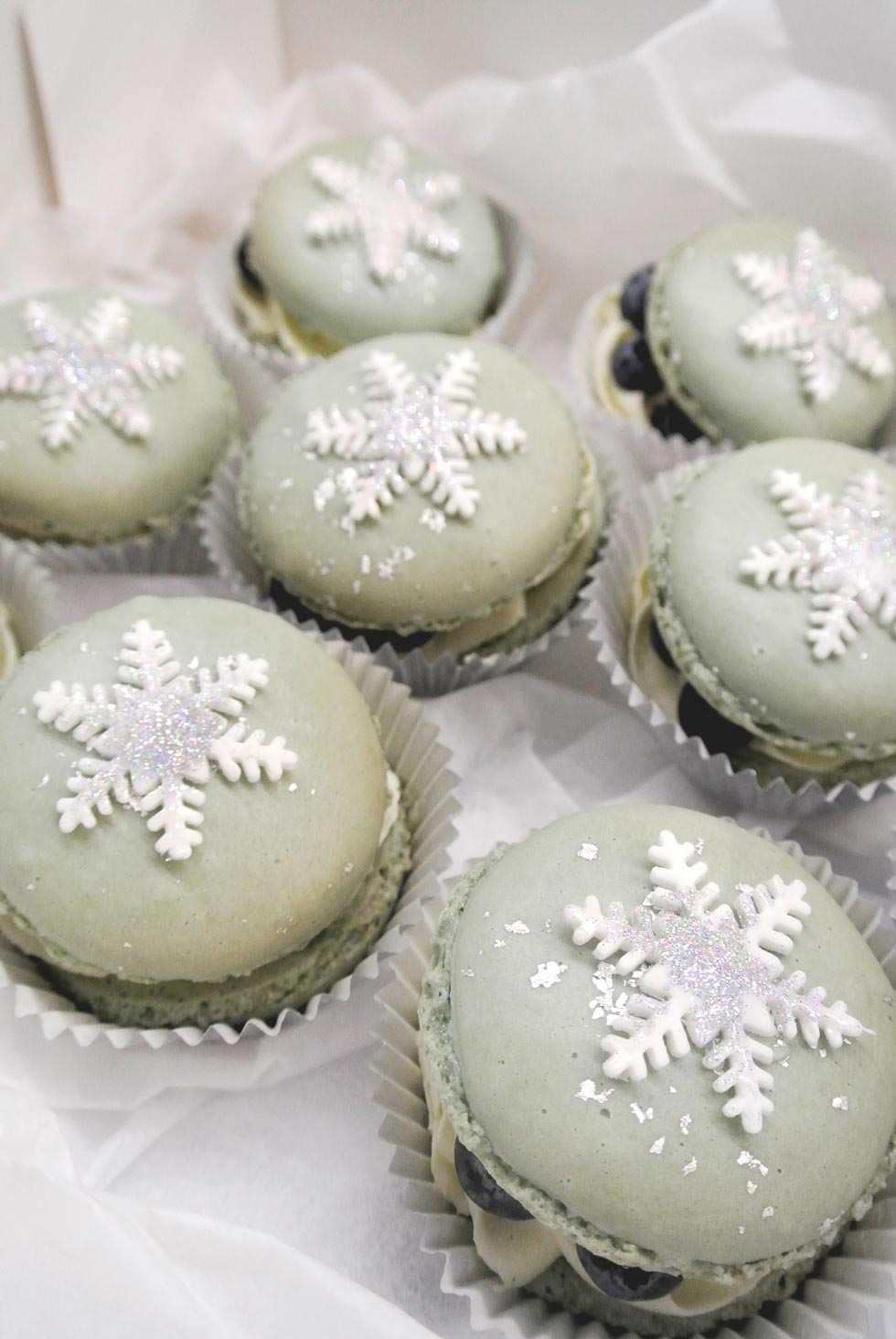 Winter-Macarons