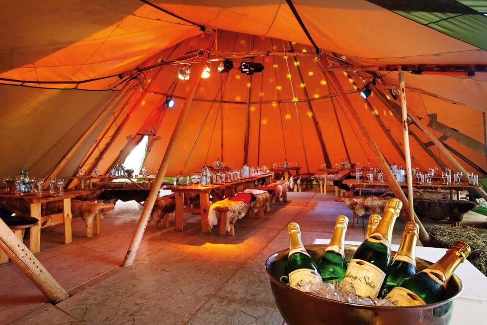 Tipi Zelt mieten für die Hochzeit