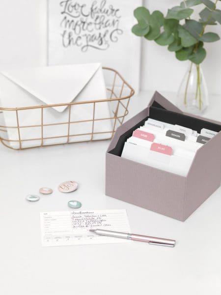 Checklisten Box Hochzeit