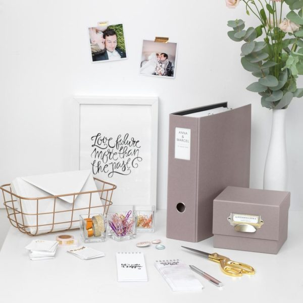 Hochzeitsordner und Checklisten
