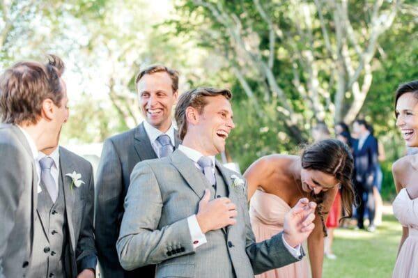 Bräutigam Hochzeitsgesellschaft