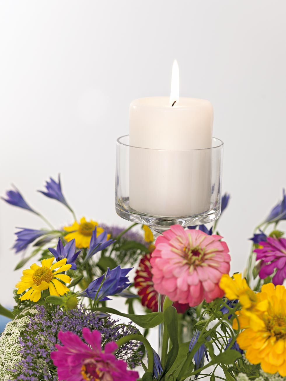 Tischdekoration Blumenwiese