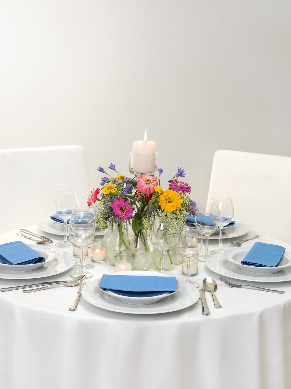 Tischdekoration Wiesenblumen