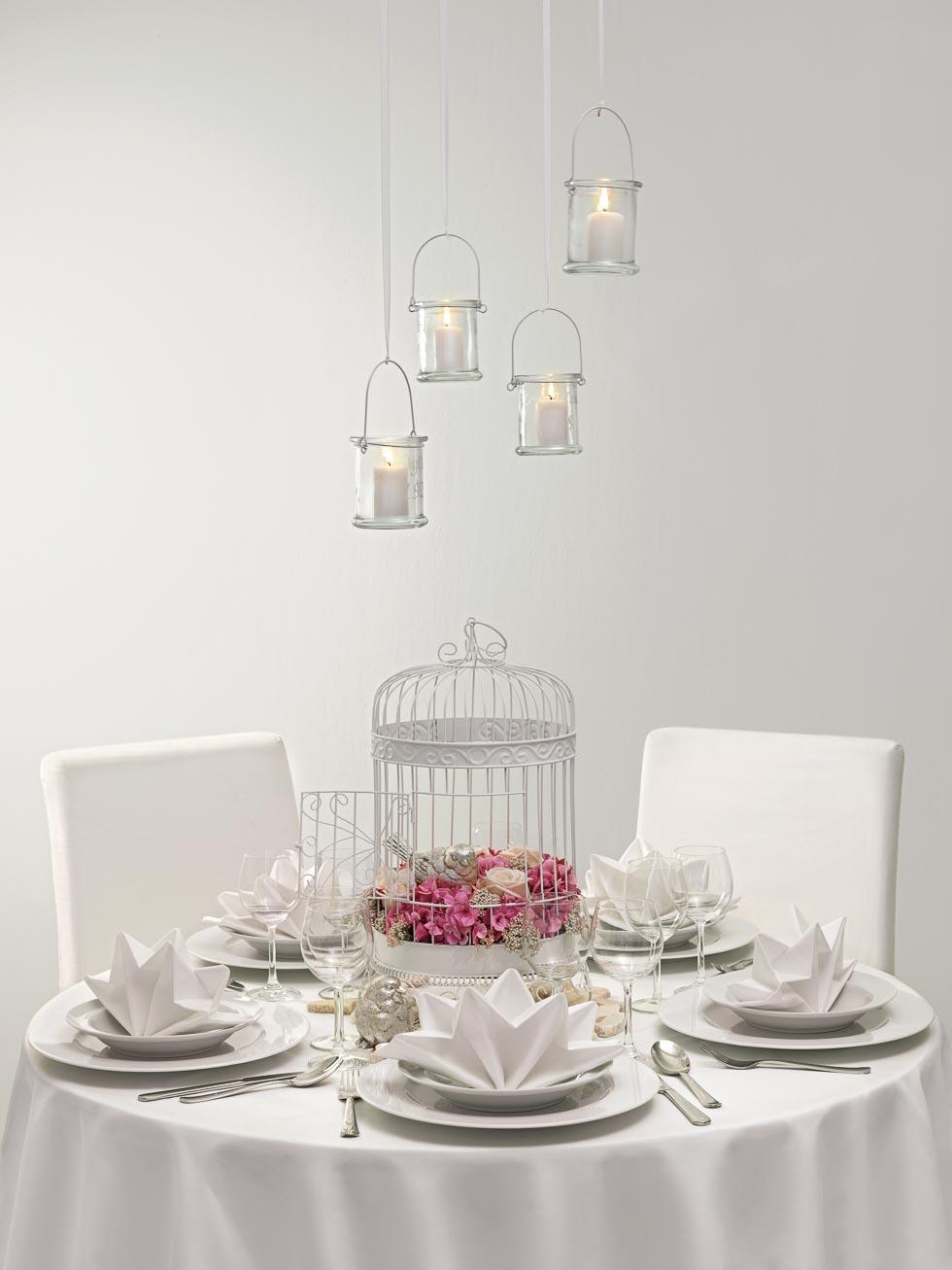 Tischdekoration romantisch