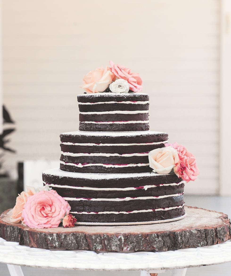 Hochzeitstorte Naked Cake Schokolade