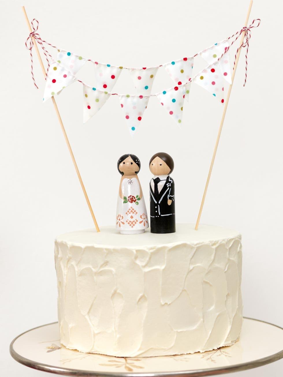 Hochzeitstorte und Tortenfiguren DIY Vintage Wedding