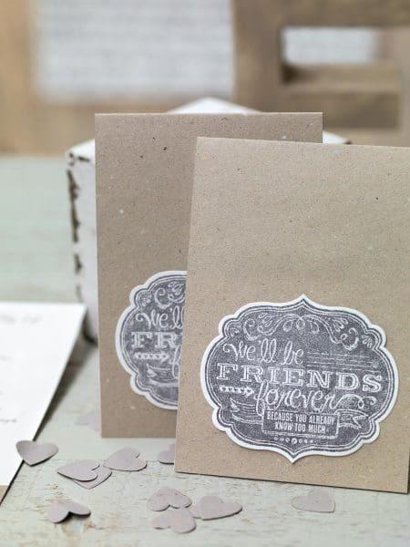 Kirchenheft Hochzeit Kraftpapier