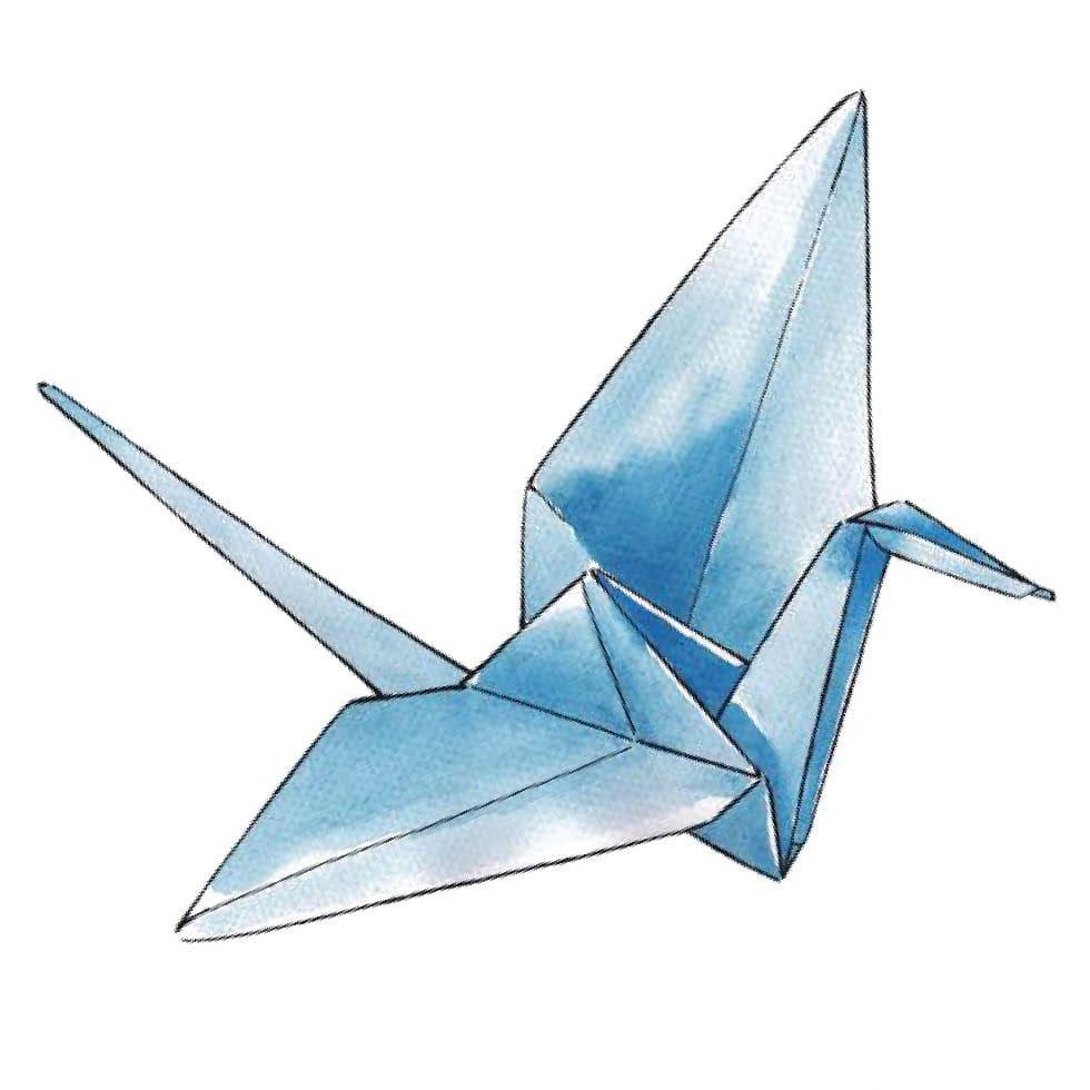 Faltanleitung: Origami-Kraniche für die Tischdekoration