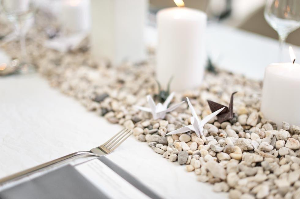 Kraniche falten Dekoration Hochzeit