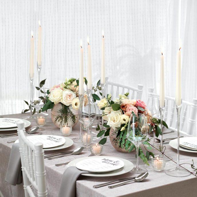tischdekoration hochzeit planen mit weddingstyle. Black Bedroom Furniture Sets. Home Design Ideas