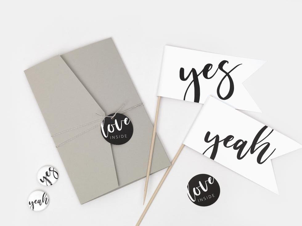 DIY Pocket Fold Hochzeitseinladung
