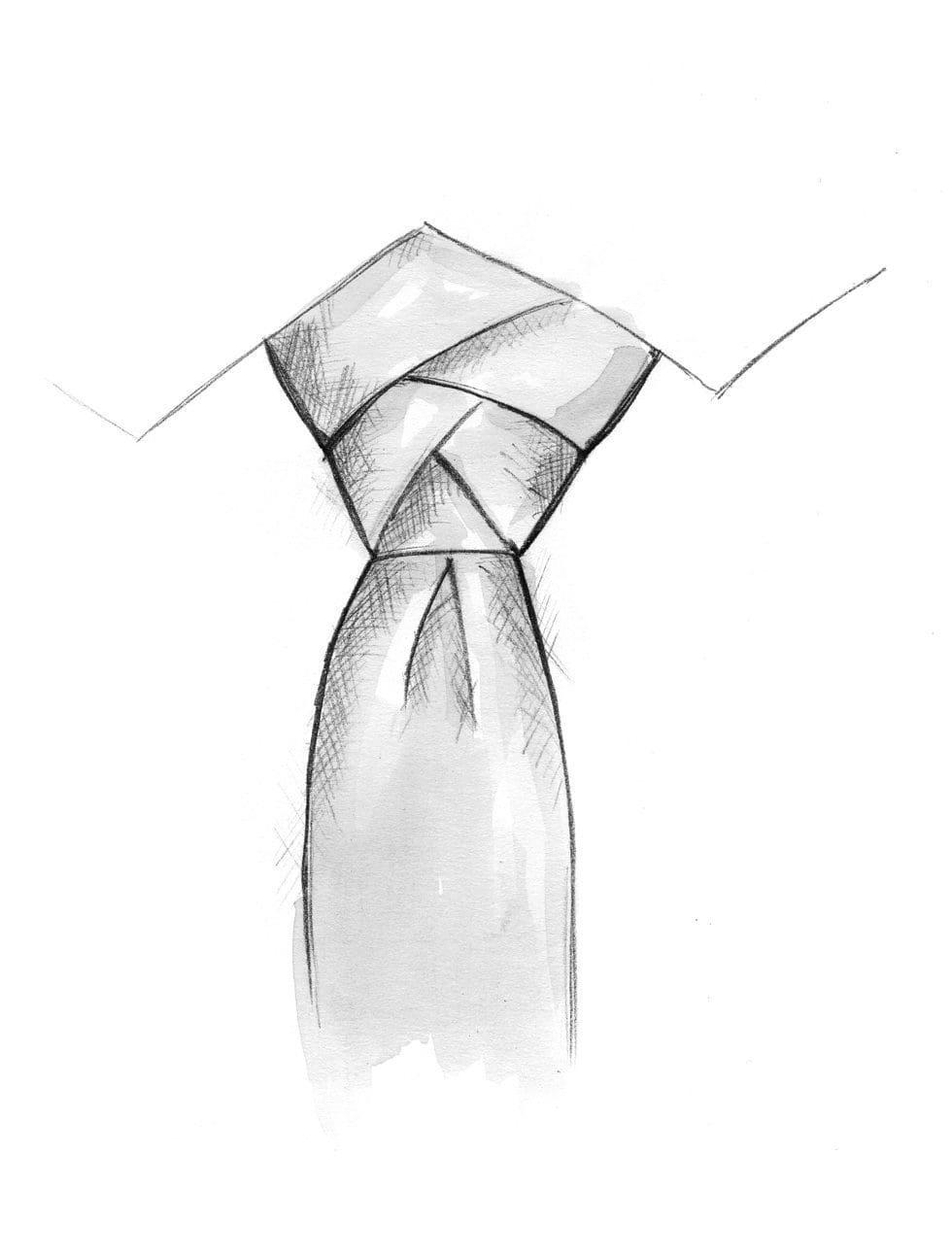 Krawatte binden festlicher Knoten