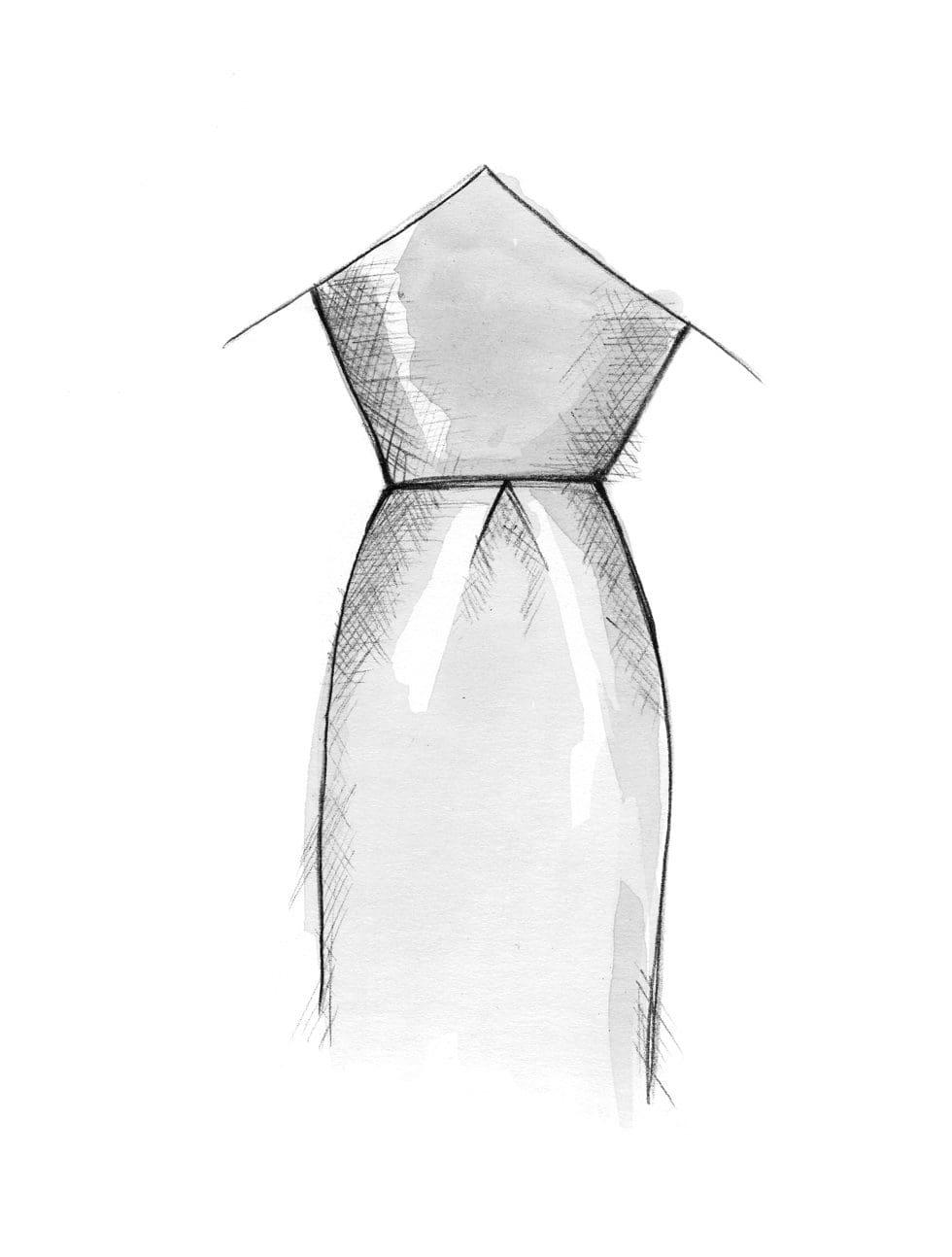 Krawatte binden voluminöser Knoten