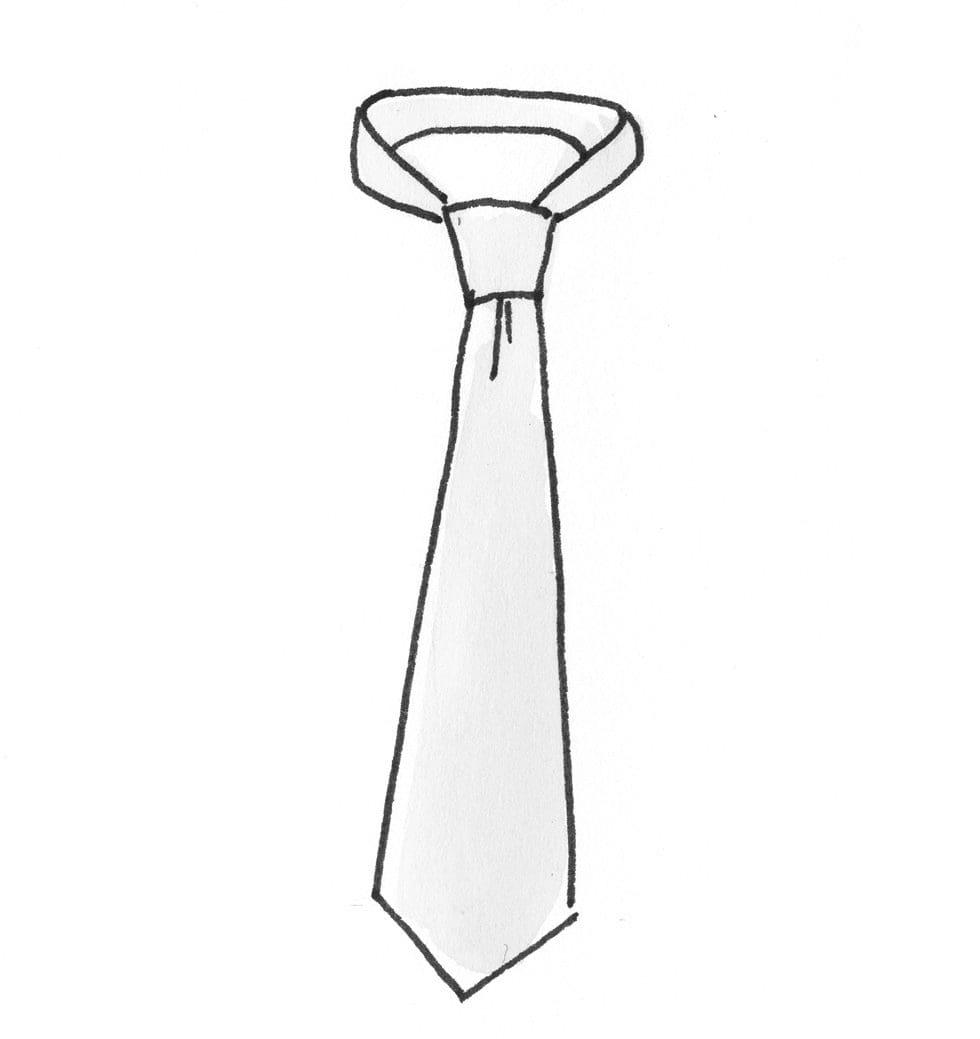 Krawatte binden schmal