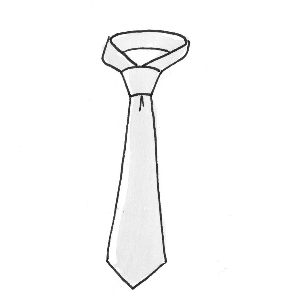 Krawatte binden festlich