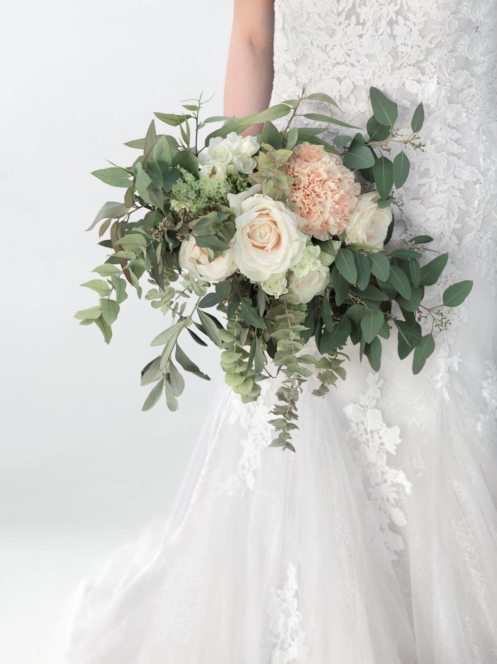 Brautstrauß Peach