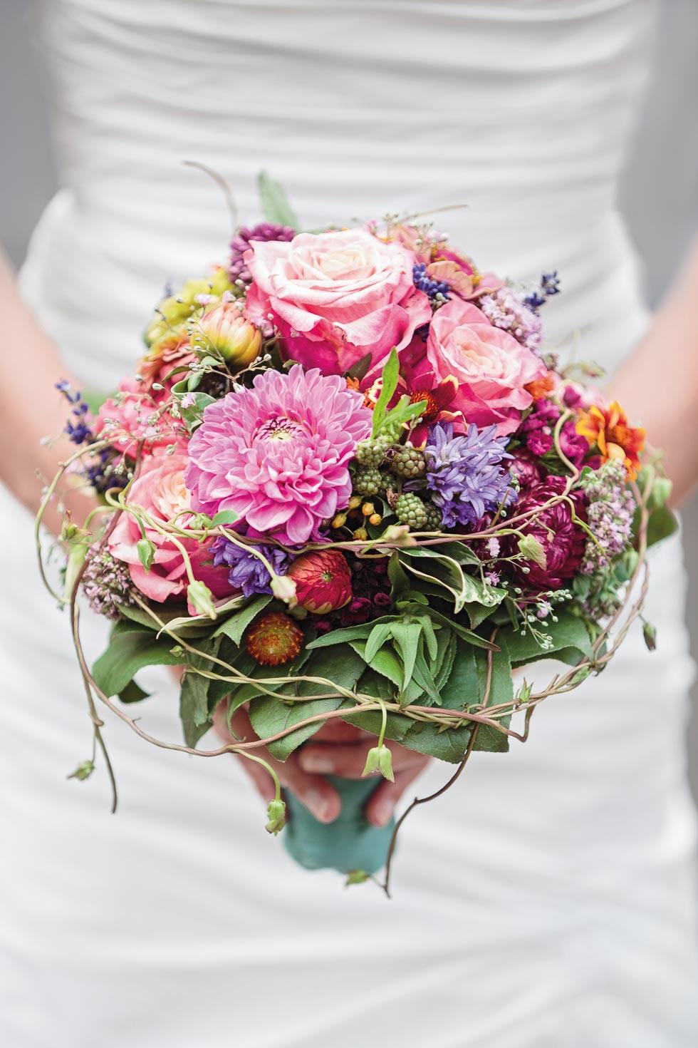 Brautstrauß Rosa und Flieder
