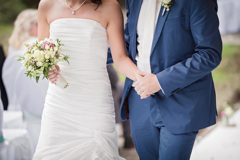Brautstrauß Weiß und Grün