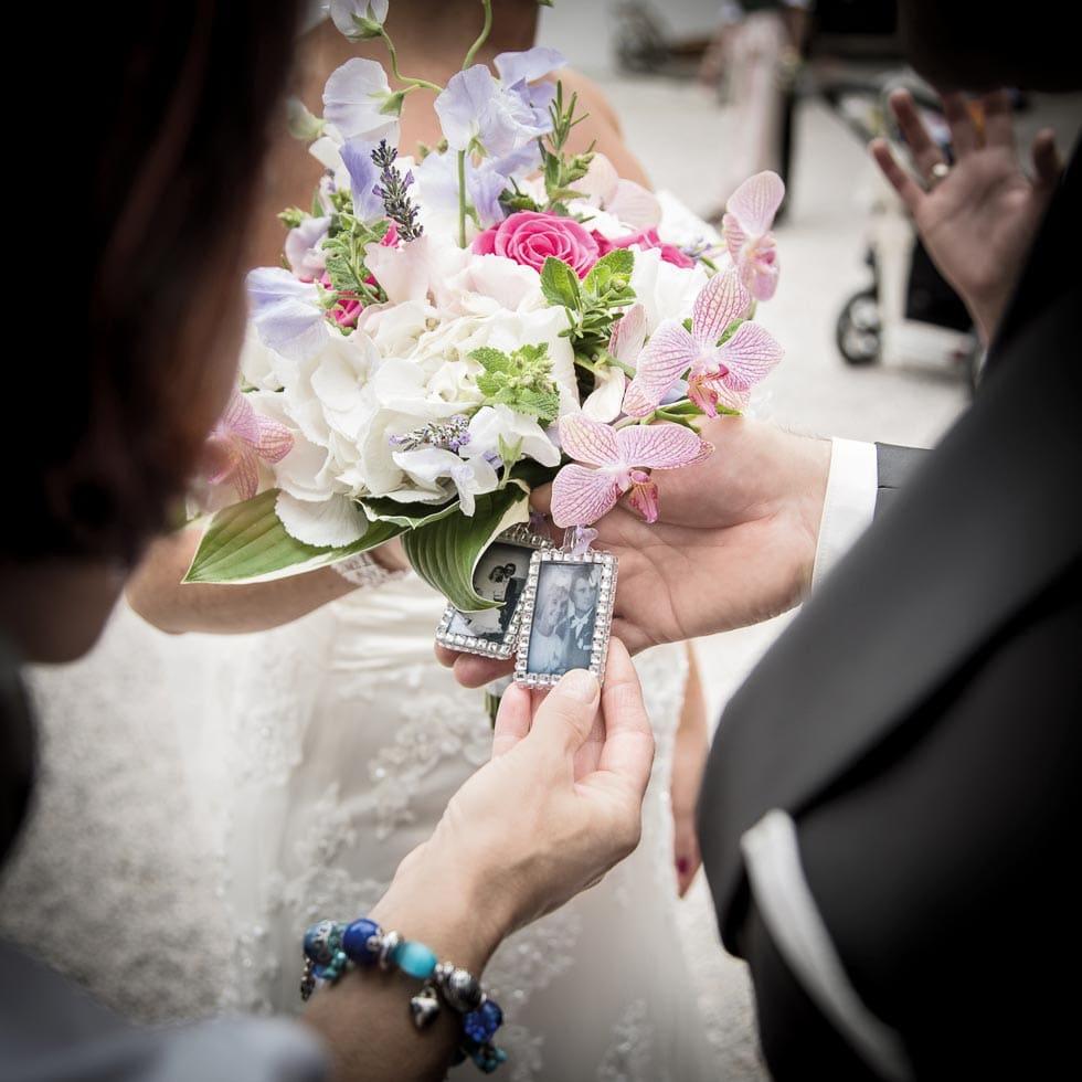 Brautstrauß Flieder, Rosa und Weiß