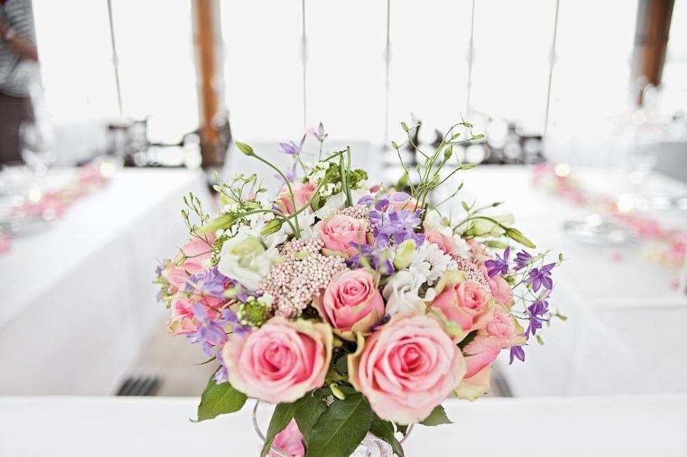 Brautstrauß Rosa und Lila