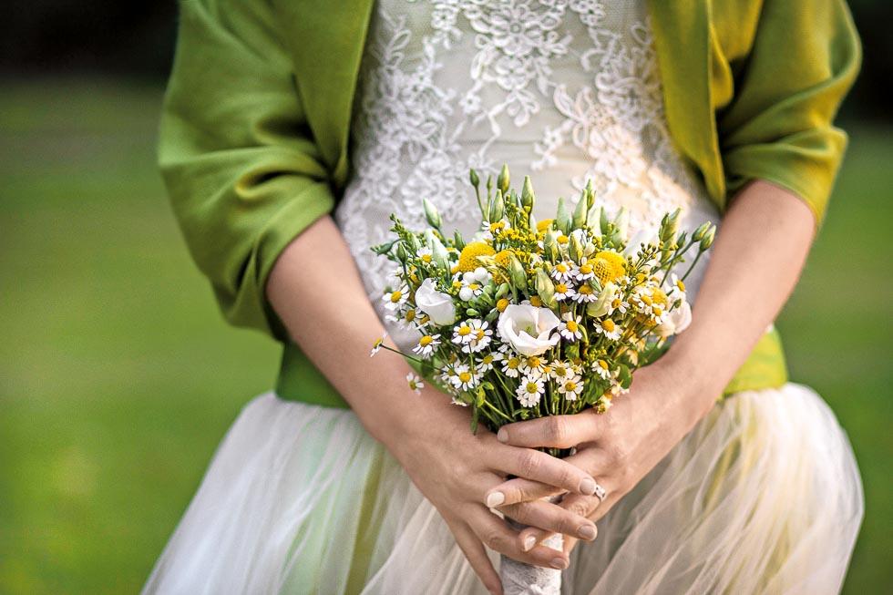 Brautstrauss Weiss Und Gelb