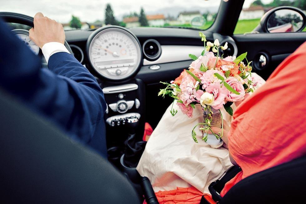 Brautstrauß Rosa und Orange