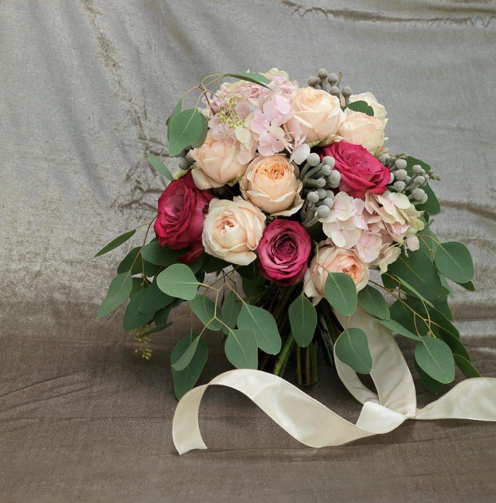 Brautstrauß Pink und Pfirsich