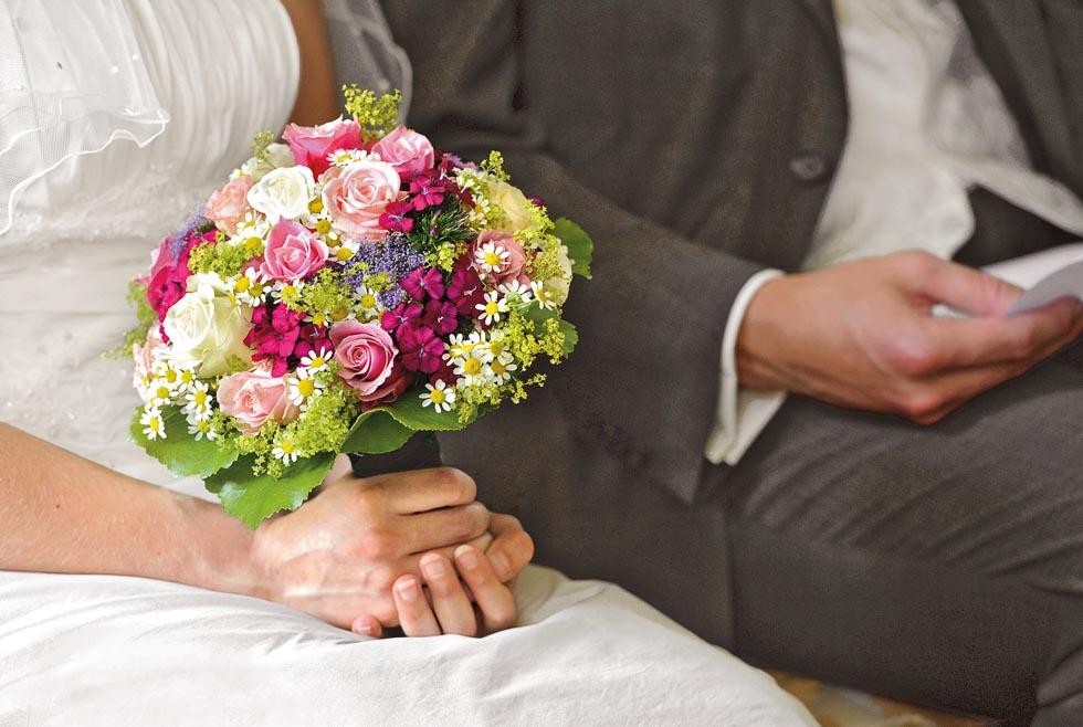 Brautstrauß Lila und Violet