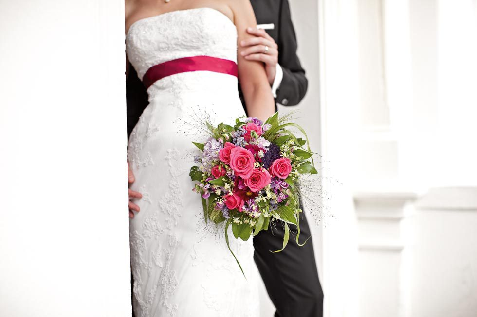 Brautstrauß Pink und Lila