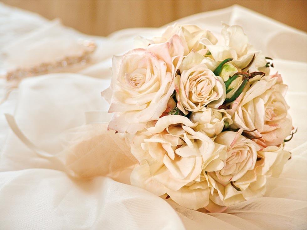 Brautstrauß Creme